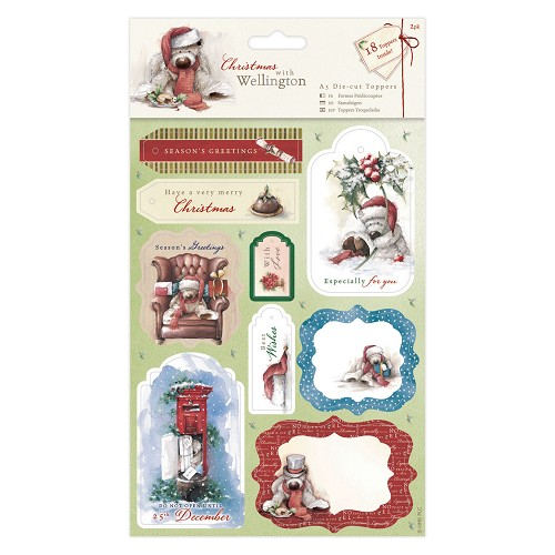 A5 Die-cut Toppers (2pk) - Wellington Christmas