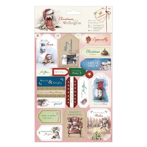 Die-cut  Sentiments (2pk) - Wellington Christmas