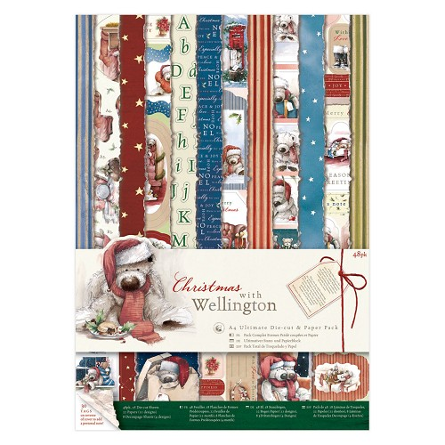 A4 Ultimate Die-cut & Paper Pack (48pk) - Wellington Christmas