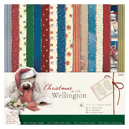 12 x 12 Paper Pack (32pk) - Wellington - Christmas