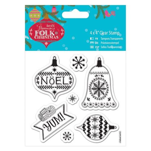 4 x 4 Clear Stamp - Folk Christmas - Yum