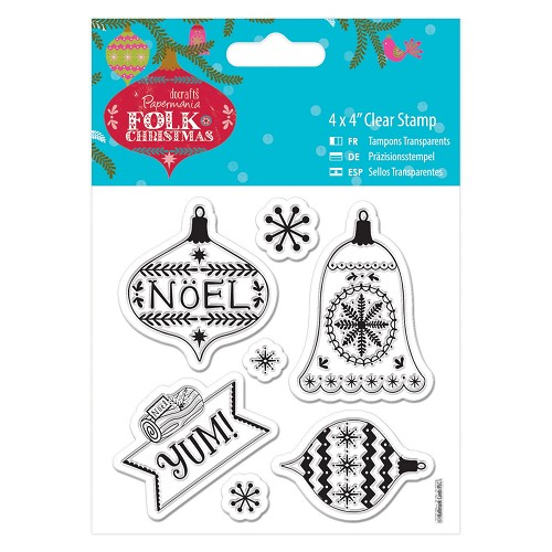 4 x 4 Clear Stamp - Folk Christmas - Yum