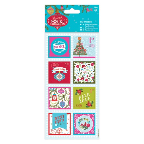 Tear Off Toppers Linen (16pcs) - Folk Christmas