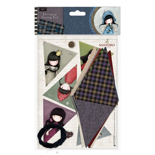 Decoupage Bunting Pack - Santoro Tweed