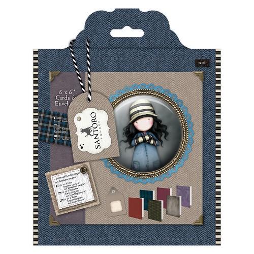 6 x 6 Cards & Envelopes (12pk) - Santoro Tweed