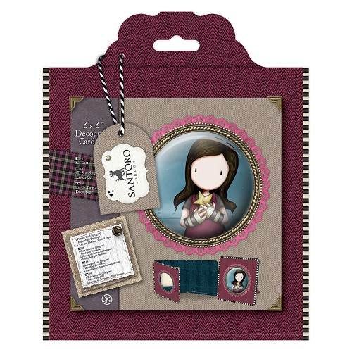 6 x 6 Framed Decoupage Card Kit - Santoro Tweed