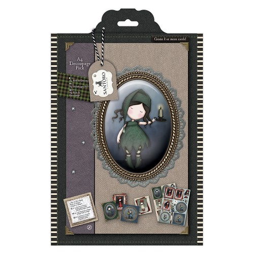 A4 Decoupage Pack - Santoro Tweed -  Nightlight