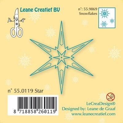 Le Crea Design, Clear Stamps, Star