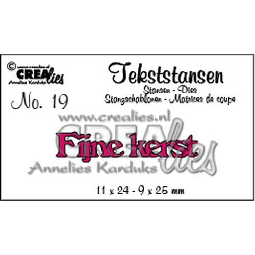 Crealies tekststans - Fijne Kerst (NL) CLTS19  11x24 - 9x25 mm