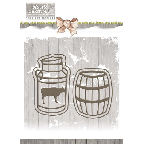 Die - Precious Marieke - Rustic Christmas - Milk Churn and Barrel