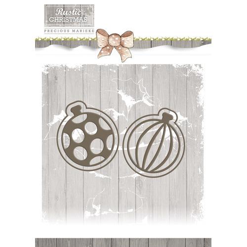 Die - Precious Marieke - Rustic Christmas - Bauble Set