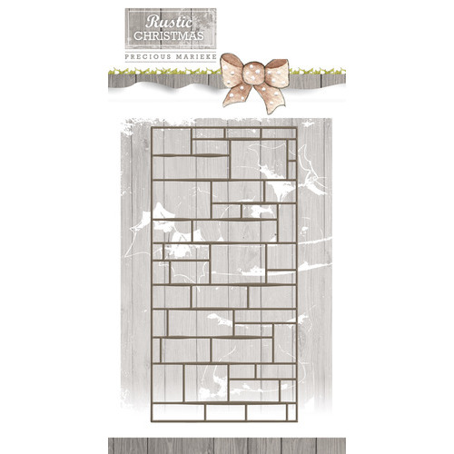 Die - Precious Marieke - Rustic Christmas - Brick Wall