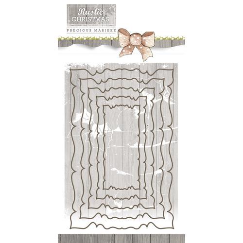 Die - Precious Marieke - Rustic Christmas - Rustic Nesting Frames