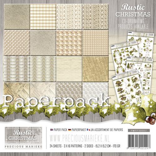 Paperpack -  Precious Marieke - Rustic Christmas