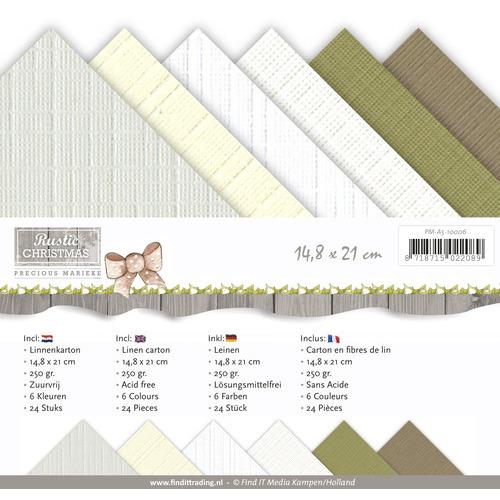 Linnenpakket - A5 - Precious Marieke - Rustic Christmas