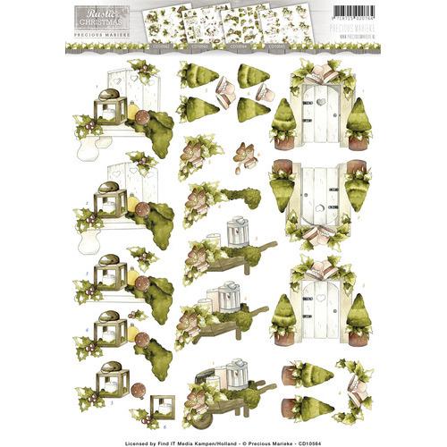 3D Knipvel -  Precious Marieke - Rustic Christmas - Garden