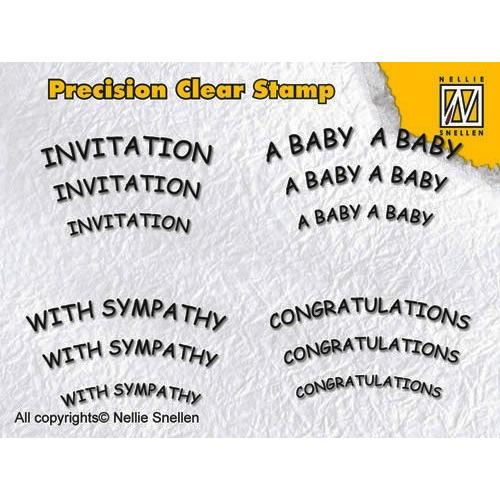 Nellie Snellen Precision clear stamps Engelse teksten-2 - APST010