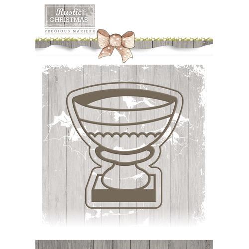 Die - Precious Marieke - Rustic Christmas - Stone Vase