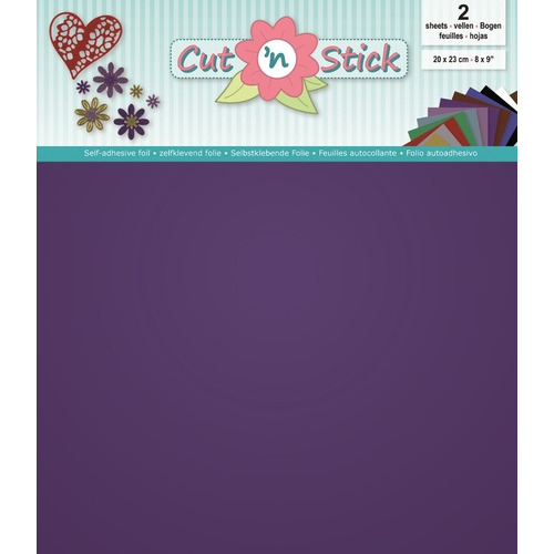 Cut `n Stick 2x Mirror Purple 20 x 23 cm