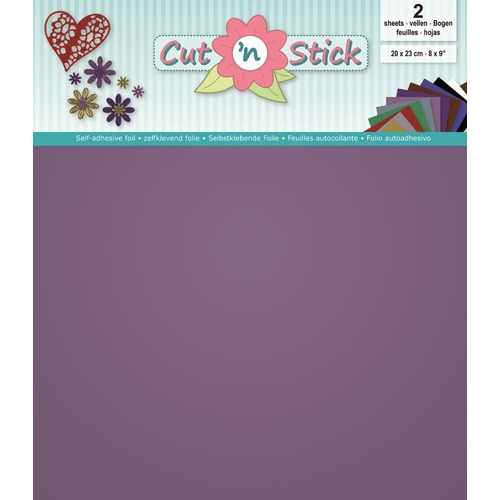 Cut 'n Stick 2x Mirror Violet 20x23 cm.