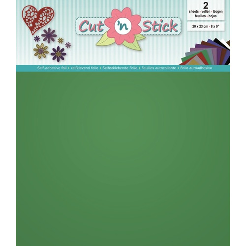 Cut 'n Stick 2x Mirror Green 20x23cm