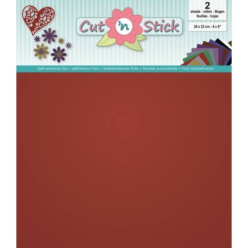 Cut 'n Stick 2x Mirror Red 20x23 cm.