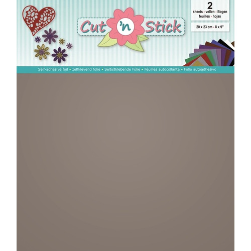 Cut `n Stick 2x Mirror Silver 20 x 23
