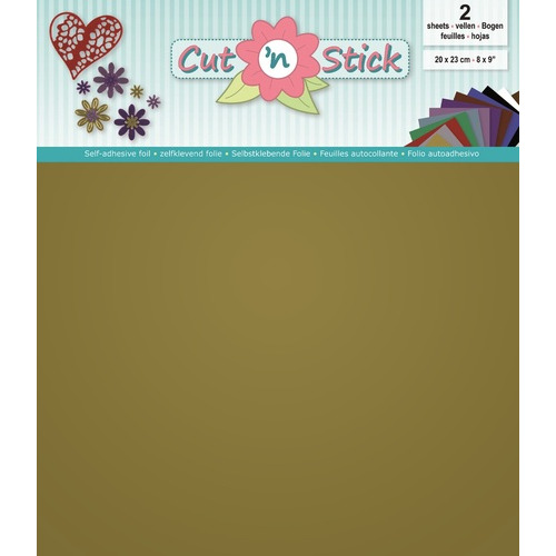 Cut `n Stick 2x Mirror Gold 20x23