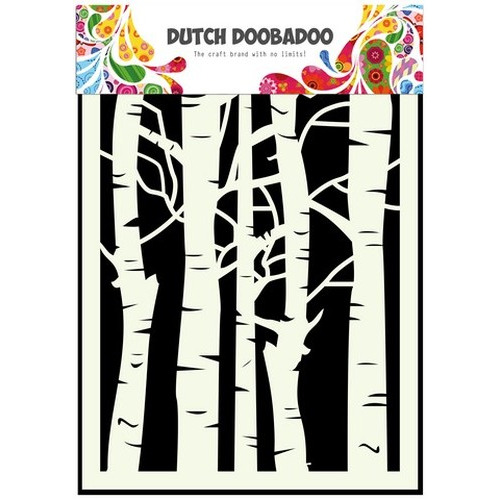 Dutch Doobadoo Dutch Mask Art stencil Berkenbomen A5 470.715.045 (new 10-15)