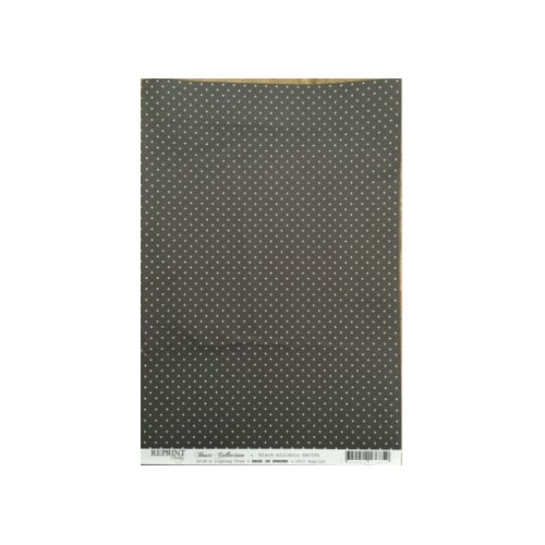 RBC086 Basic Collection A4 Black minidots
