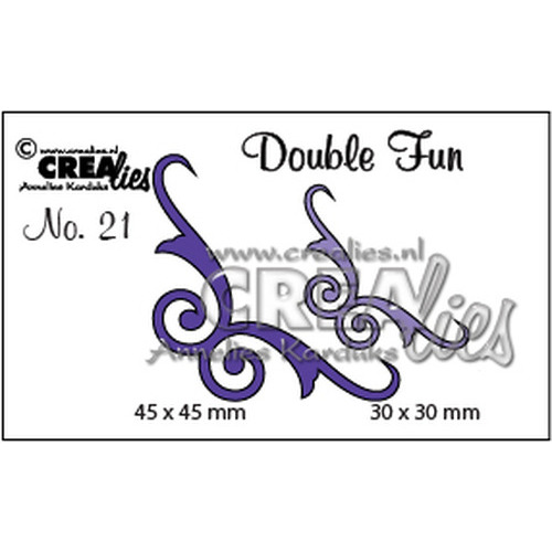 Crealies Double Fun no. 21 Hoekjes 5 45x45mm-30x30mm / CLDF21