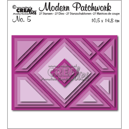 Crealies Modern Patchwork no. 5 105x148mm / CLMP05