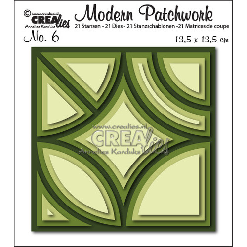 Crealies Modern Patchwork no. 6 135x135mm / CLMP06