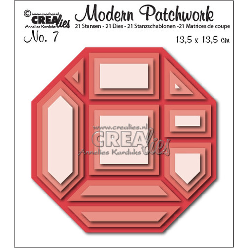 Crealies Modern Patchwork no. 7 135x135mm / CLMP07