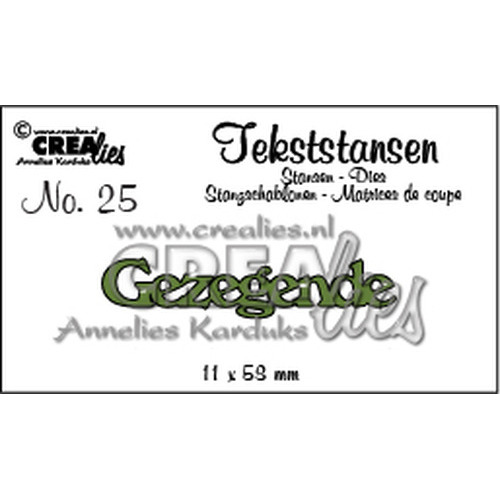 Crealies Tekststans no. 25 Gezegende (NL) 11x58mm / CLTS25