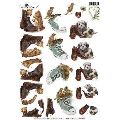 3D Knipvel - Studio Martare - Huisdieren met schoenen