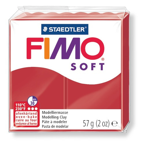 Fimo Soft kerstrood 57GR 8020-2 P