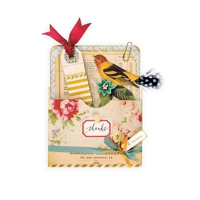 Sizzix® Bigz™ XL Die - Library Pocket by Brenda Walton™ 660700 Favorite Things  (new 10-15)
