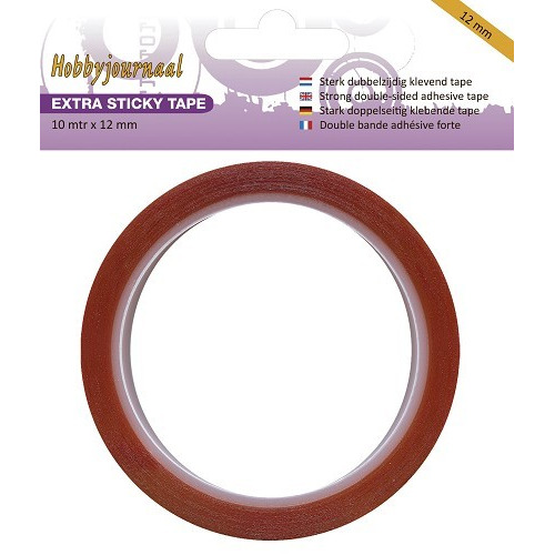 Hobbyjournaal - Extra Sticky Tape - 12 mm