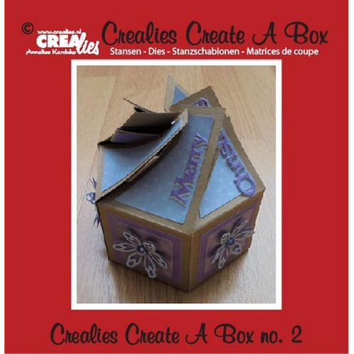 Crealies Create A Box no. 2 6-kantig doosje 7 x 14 cm / CCAB02