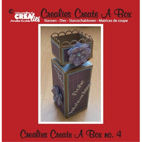Crealies Create A Box no. 4 halve toffee doos 5,5 x 19 cm / CCAB04