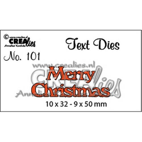 Crealies tekststans (Eng) merry christmas 10x32-9x50mm / CLTD101
