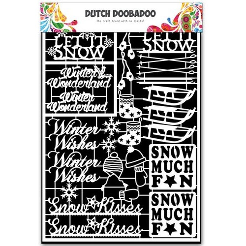 Dutch Doobadoo Dutch Paper Art winter - A5 472.948.034