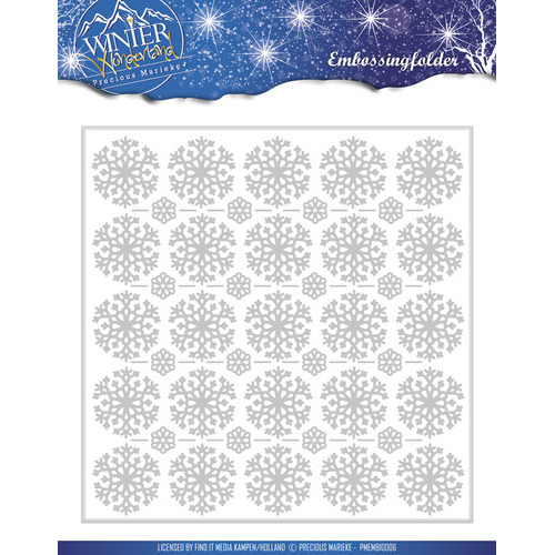 Embossing Folder -  Precious Marieke - Winter Wonderland
