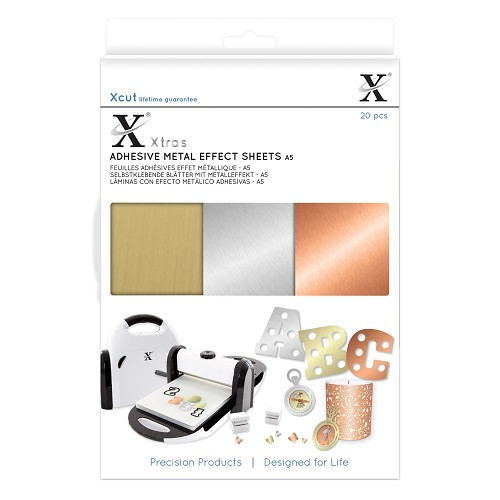 Xtra A5 Adhesive Metal Effect Sheets (20pcs)
