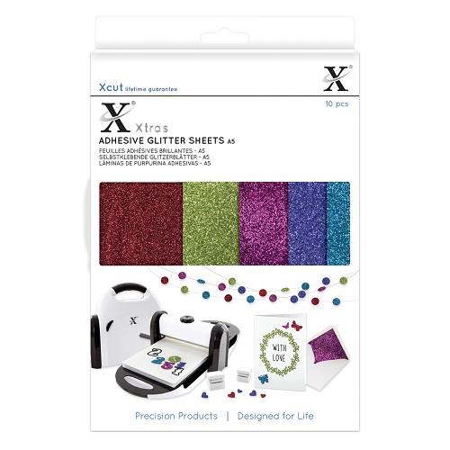 Xtra A5 Adhesive Glitter Sheets (10pcs) Darks