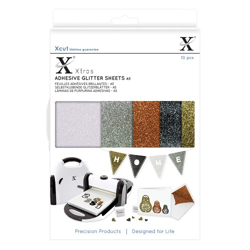 Xtra A5 Adhesive Glitter Sheets (10pcs) Metallics