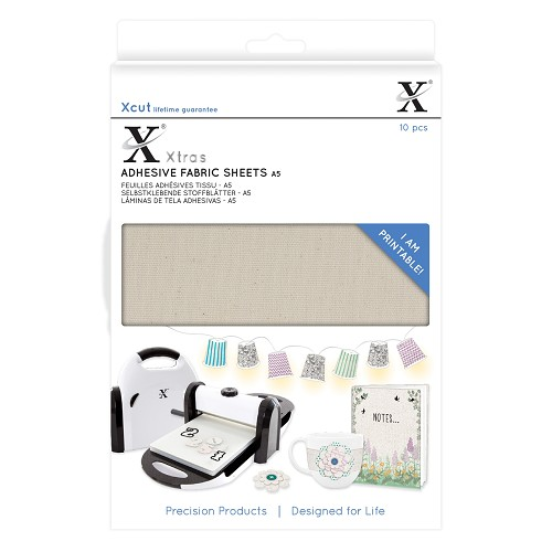 Xtra A5 Adhesive Fabric Sheets (10pcs)
