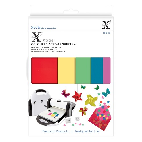 Xtra A5 Coloured Acetate Sheets (15pcs)
