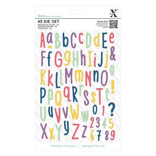 A5 Die Set (66pcs) - Folk Alphabet